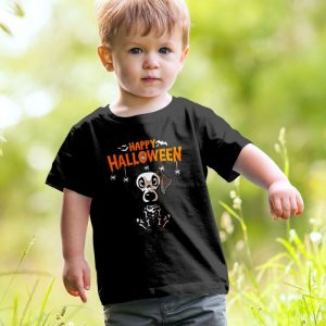 Happy Halloween Dachshund Skeleton Unisex Youth Kids T-Shirt