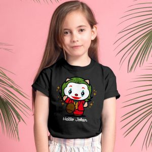 Hello Joker - Funny Hello Kitty Joker Mashup Unisex Youth Kids T-Shirt