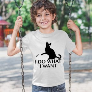 I Do What I Want Cat 2 Unisex Youth Kids T-Shirt