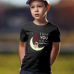 I Love You Pug To The Moon and Back Unisex Youth Kids T-Shirt