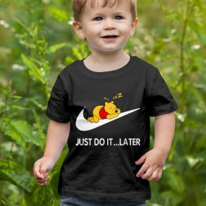 Just Do It Later - Winnie The Pooh Bear Unisex Youth Kids T-Shirt