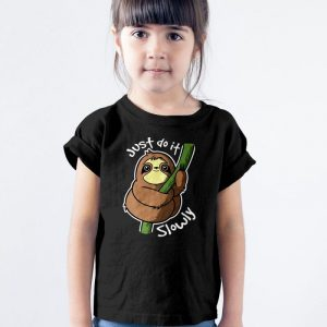 Just Do It Slowly Sloth Unisex Youth Kids T-Shirt