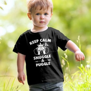 Keep Calm and Snuggle A Puggle Unisex Youth Kids T-Shirt