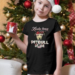 Kinda Busy Being A Pitbull Mom Unisex Youth Kids T-Shirt