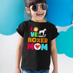 Love Being a Boxer Mom Unisex Youth Kids T-Shirt