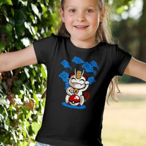 Lucky Meowth - Meowth & Lucky Cat Parody Mashup Unisex Youth Kids T-Shirt