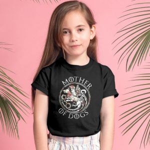 Mother Of Dogs Floral Flower Unisex Youth Kids T-Shirt