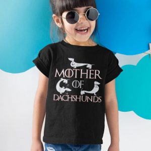 Mother of Dachshunds - Mother of Dragons Parody Unisex Youth Kids T-Shirt
