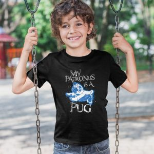 My Patronus Is A Pug (2) Unisex Youth Kids T-Shirt