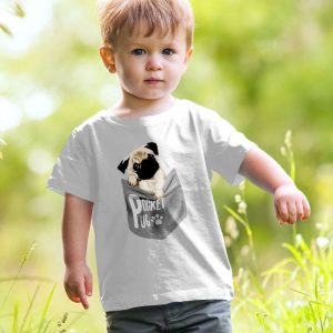 Pocket Pug - Cute Pug Puppy Unisex Youth Kids T-Shirt