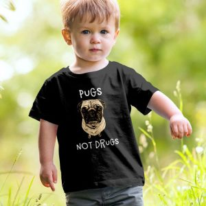 Pugs Not Drugs Unisex Youth Kids T-Shirt