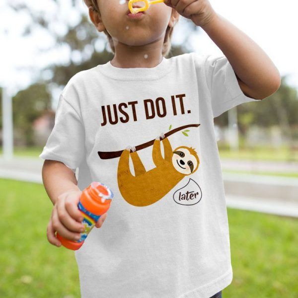 Sloth - Just Do It Later Unisex Youth Kids T-Shirt