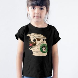 Starpugs Coffee - Starbuck Pug Dog Mashup Unisex Youth Kids T-Shirt