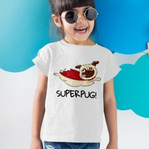 Super Pug Unisex Youth Kids T-Shirt