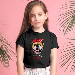 Womens Funny English Bulldog Mom Unisex Youth Kids T-Shirt