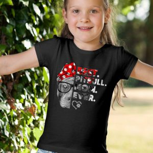 Womens Pittie Mom - Best Pitbull Mom Ever Unisex Youth Kids T-Shirt