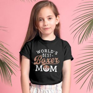 World's Best Boxer Mom Unisex Youth Kids T-Shirt