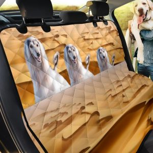 Afghan Hound In Desert Car Back Seat Cover Dog Car Seat Covers