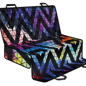 Black Triangle Galaxy Space Print Pet Car Back Seat Cover