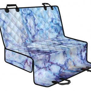 Blue Marble Print Pet Car Back Seat Cover