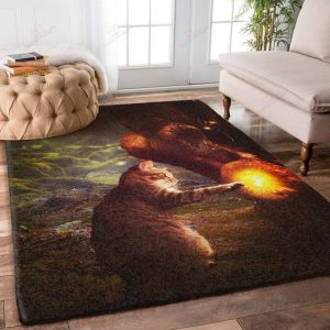 Cat In The Cave Fire Gs-nt1101 Rug Sport Decor Gift Floor Decor Living Room Carpet Rug Area RugBig Sale Rug Area New 241099