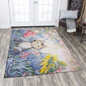 Cat In The Pretty Forest Gs-cl-ld1411 Rug Sport Decor Gift Floor Decor Living Room Carpet Rug Area RugBeautiful Rug Area New 241148