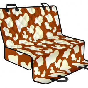 Chocolate And Milk Cow Print Pet Car Back Seat Cover