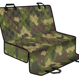 Classic Green Camouflage Print Pet Car Back Seat Cover