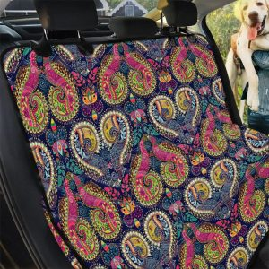 Colorful Boho Paisley Pattern Print Car Back Seat Cover Dog Car Seat Covers