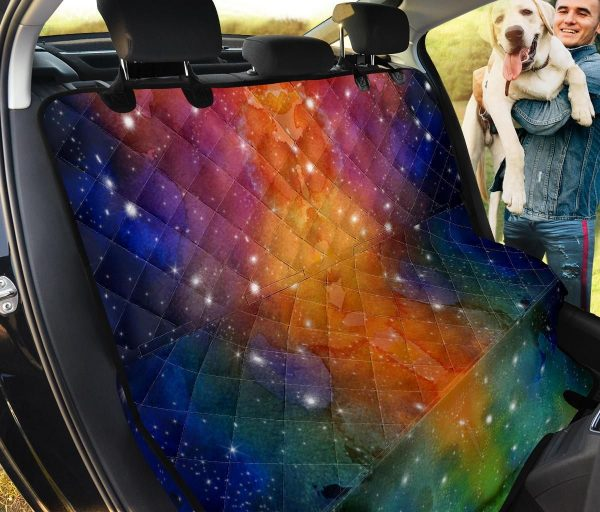 Colorful Outer Space Galaxy Car Back Seat Cover Dog Car Seat Covers