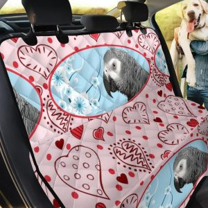 Cute African Grey Parrot Car Back Seat Cover Dog Car Seat Covers