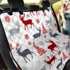 Deer Tree Pattern Car Back Seat Cover Dog Car Seat Covers