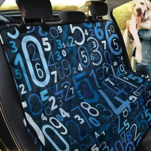 Dodger Blue And Black Number Car Back Seat Cover Dog Car Seat Covers