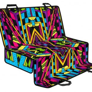 Ethnic Psychedelic Trippy Print Pet Car Back Seat Cover