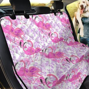Flamingos Flowers Pattern Car Back Seat Cover Dog Car Seat Covers