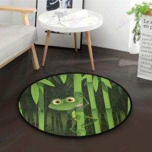 Frog Stem The Bamboo Gs-cl-dt2406 Round Carpet Floor Rug Sport Decor Gift Floor Decor Living Room Carpet Rug Area RugBeautiful Round Rug 281013