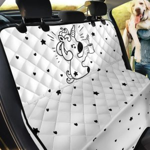 Funny Unicorn With Coffee Design Car Back Seat Cover Dog Car Seat Covers