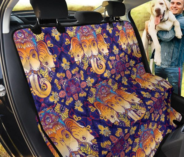 Ganesha The Divine Of Idian Car Back Seat Cover Dog Car Seat Covers