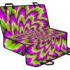 Green Explosion Moving Optical Illusion Pet Car Back Seat Cover