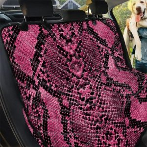 Pink And Black Snakeskin Pattern Car Back Seat Cover Dog Car Seat Covers
