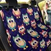 Pink And Dodger Blue Color Of Owl Car Back Seat Cover Dog Car Seat Covers