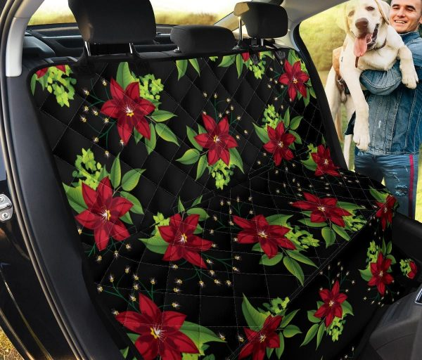 Poinsettia Gift From God Car Back Seat Cover Dog Car Seat Covers