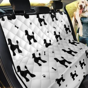 Poodle Black White Patterns Car Back Seat Cover Dog Car Seat Covers