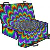 Psychedelic Expansion Optical Illusion Pet Car Back Seat Cover