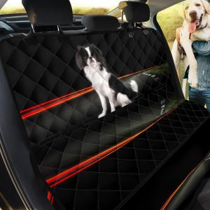 Red Line And Lovely Japanese Chin Design Car Back Seat Cover Dog Car Seat Covers