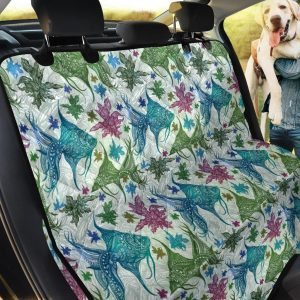 Seaweed Coral Reef Angelfish Tribal Car Back Seat Cover Dog Car Seat Covers