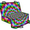 Spiky Psychedelic Optical Illusion Pet Car Back Seat Cover