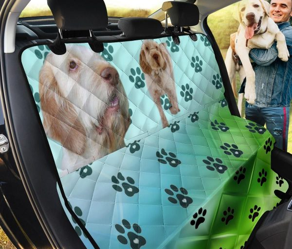Spinone Italiano And Paws Design Car Back Seat Cover Dog Car Seat Covers