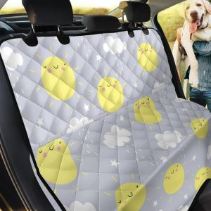 Sun Smile Pattern Car Back Seat Cover Dog Car Seat Covers