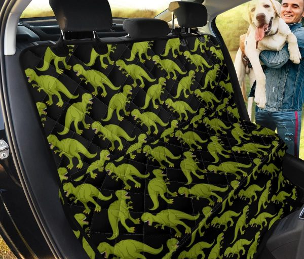 T Rex Into The Deep Forest Car Back Seat Cover Dog Car Seat Covers